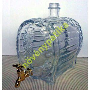 Csapos üveghordó 1,5 literes